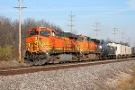 BNSF 5729 leads the galmem thur old monroe.